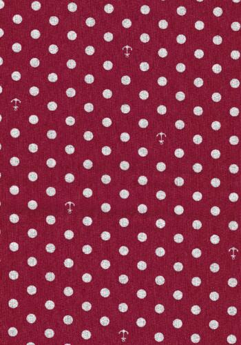 Go to the Sea-Red w dots and anchors-Riley Blake Penny Rose Harry Alice Go Sea Amanda Herring nautical prints