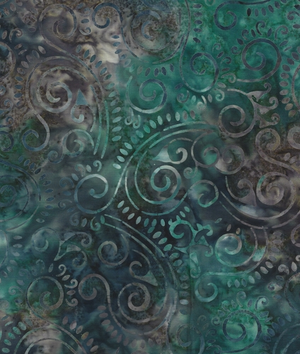 Java Batiks- Aqua, A104-Java Batik Aqua cotton fabric