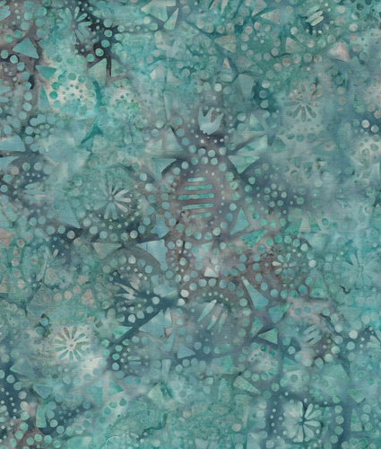 Java Batiks- Aqua, A111-Java Batik Aqua cotton fabric
