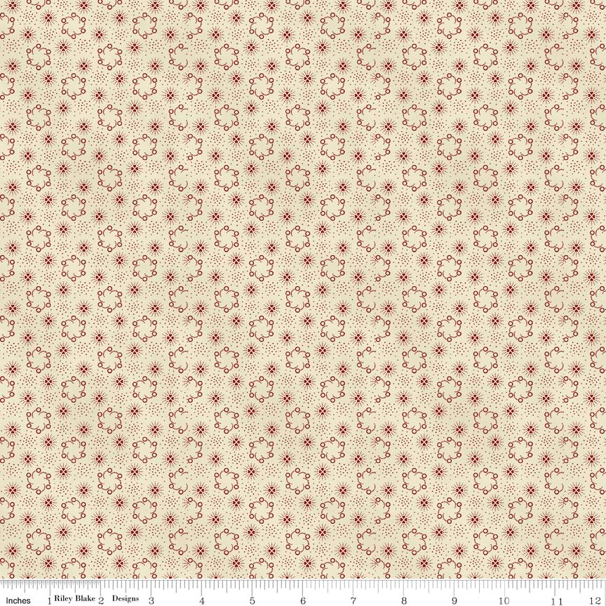 Americana-Penny Rose, Americana, cream, red