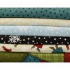 Maywood Winter Folk flannel - flat folds-winter scene, snowmen, patchwork, snow flakes, flannel
