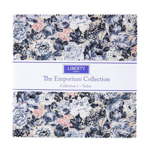 """Emporium Collection One 10"""" Stacker-Width: 10 x 10  Designer: Liberty Fabrics  Collection: The Emporium Collection  Release Date: April 2021  Item Description: This 10 Stacker precut bundle includes 42 pieces from The Emporium Collection One by Liberty Fabrics. Each print will be included 1-2 times in the bundle."""