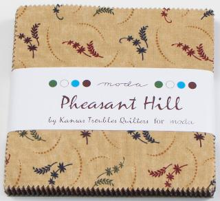 Pheasant Hill Charm Pack-Pheasant Hill Charm Pack by Kansas Troubles Quilters for Moda. The pack contains 40- 5X5 squares.