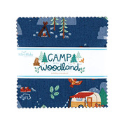 Camp Woodland Stacker- 5 Stacker precut bundle includes 42 pieces from the Camp Woodland collection by Natàlia Juan Abelló for Riley Blake Designs.