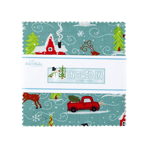 Snowed In Stacker-5 Stacker precut bundle includes 42 pieces from the Snowed In collection by Heather Peterson for Riley Blake Designs