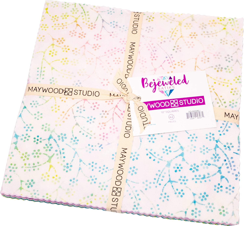 Bejeweled Batiks-Bejeweled Batiks 42-10 x 10 Squares, Layer Cake by Maywood Studios
