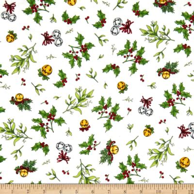 Christmas Joy Flannel White Holly & Mistletoe-Designed by Kris Lammers for Maywood Studio. 100% Cotton flannel.Christmas Joy 