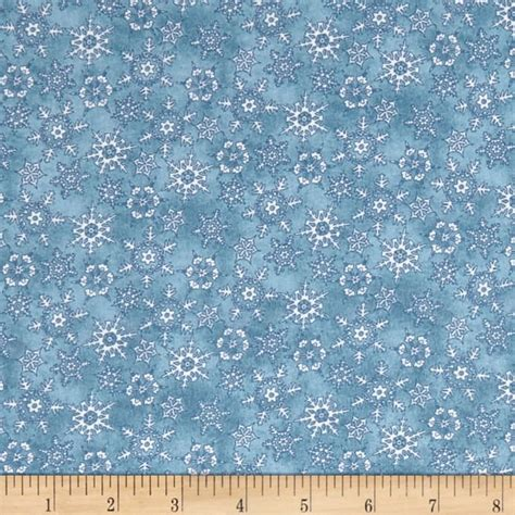 Christmas Joy Flannel Blue Snow Flakes-Christmas Joy Flannel Maywood Studio cotton kris lammers