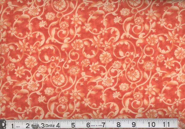 QUILTERS CALICO ORANGE-45 TONAL CALICO - ORANGE