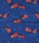 Blue with Flags.-Blue background with flags.