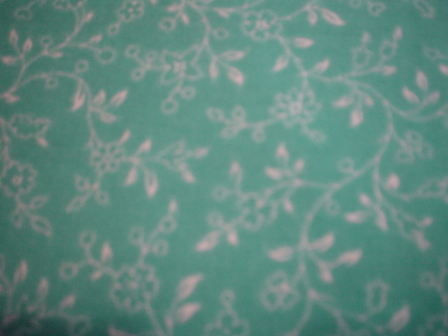 White Vines on Teal-white vines, teal background, Quilting Treasures