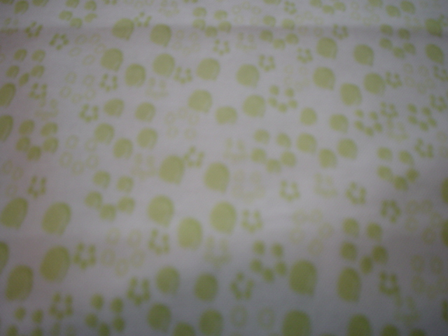 Paddington Bear Paws-paw print lime green paddington bear quilting treasures