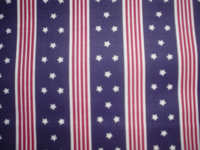Blue with Red Stripes-Blue backgroun with small white stars and red stripes.