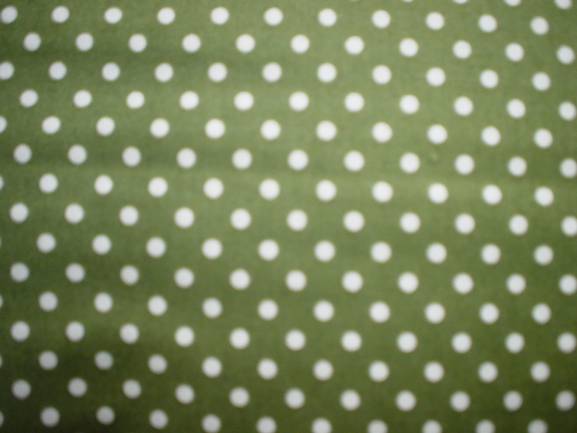 AWTY  Green with White Polka Dots-Basic Beautiful. Green background with white dots.