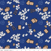 Flannel Missionary Fabric Blue-LDS Flannel missionary letters riley blake