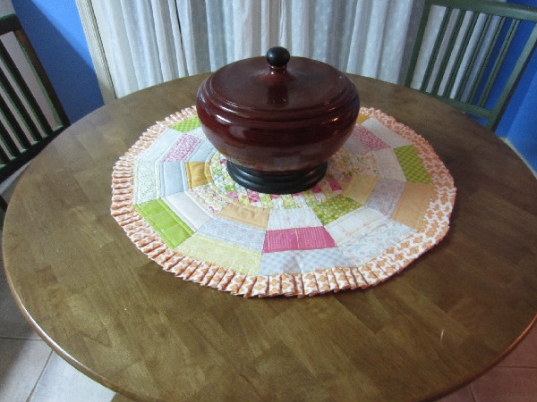 Tumbler Table Topper by Barb Gaddy-Tumbler Table Topper
