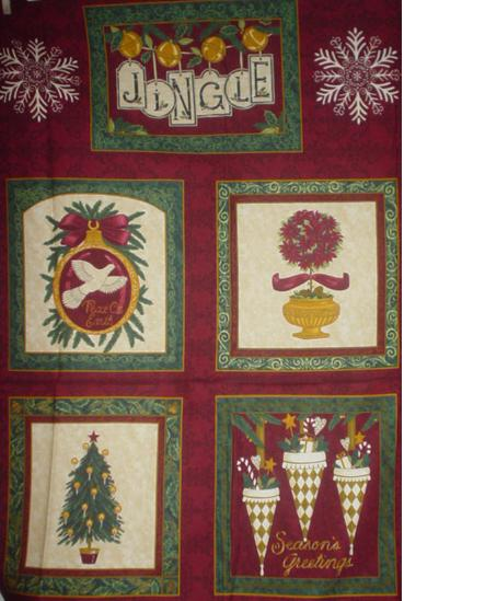 Royal Holiday Panel Berry-royal, holiday, panel, jingle, christmas tree, seasons greetings, ornaments, dove peace
