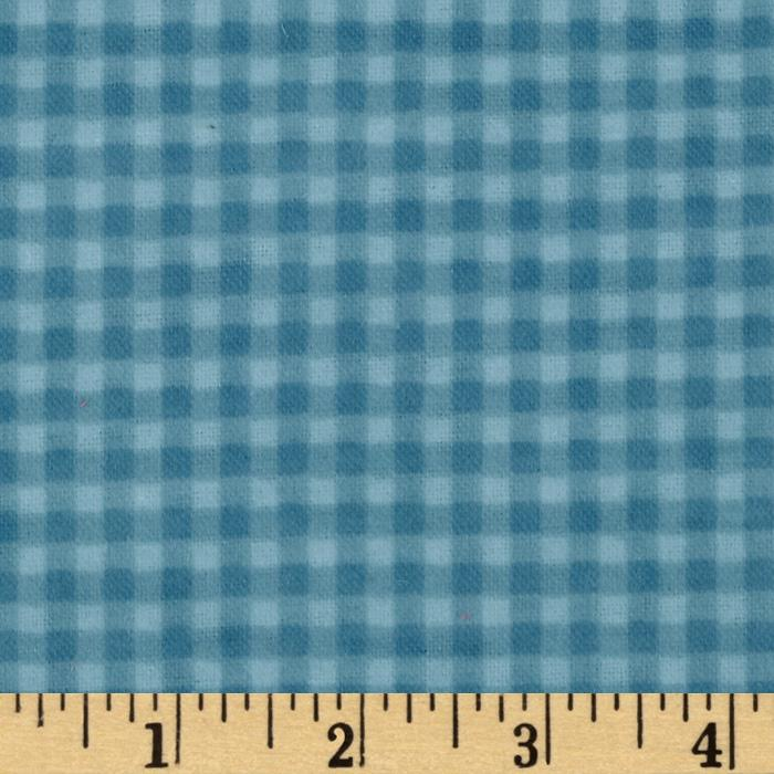 Heritage Flannel Gingham Check Blue-Heritage Studio Collection from Fabric Traditions, this ultra soft double napped (brushed on both sides) Heritage Flannel fabric is perfect for quilts, home dcor accents, craft projects and apparel. Colors include shades of blue.