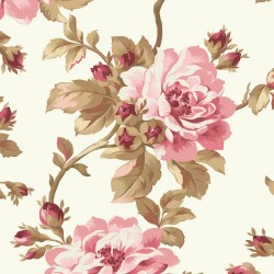 Burgundy & Blush Trailing Roses-Brand : Maywood Studio