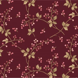 Burgundy & Blush-Burgundy Berry Vine-Brand : Maywood Studio