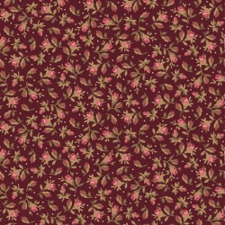 Burgundy & Blush Vintage Calico-Brand : Maywood Studio