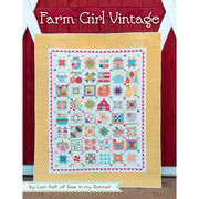 Farm Girl Vintage-Farm Girl Vintage by Lori Holt of a Bee in my Bonnet for It's Sew Emma includes complete instructions for 45 sampler blocks in two sizes (6 and 12), three farm blocks and a bumper crop of projects! The fourteen projects include ten quilts, two table runners, a table topper and a potholder. There are over 130 pages of full color instructions, beautiful photos and general Farm Girl fun.