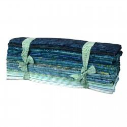 Java Batiks- Aqua Fat Quarter Bundles-java batiks 100 percent cotton