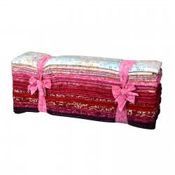 Java Batiks- Rose Fat Quarter Bundles-Java Batiks, 100% Cotton. 10 assorted stone FatQuarters 18X22.stone