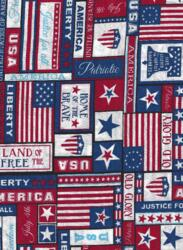 Patriotic Print - USA-patriotic print USA red white blue banners