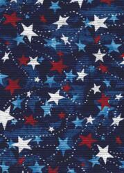Patriotic print - tossed stars-patriotic print stars red white blue