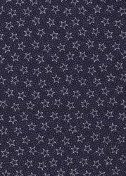 Navy Patriotic Quilt back-quilt back 108 wide navy stars white