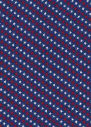 Patriotic Print - Navy with red and white stars-patriotic print navy stars red white
