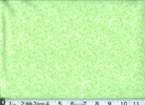 QUILTERS CALICO LIGHT GREEEN-45 QUILTER'S CALICO TONAL LIGHT GREEN  100% COTTON  1ST QUALITY