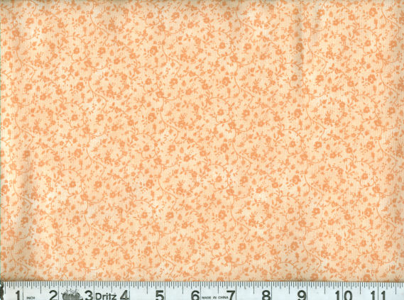 QUILTERS CALICO PEACH-45 QUILTER'S CALICO TONAL PEACH  100% COTTON  1ST QUALITY
