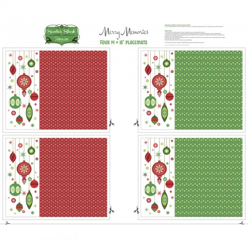 Holiday Placemats - Santa's Stash series-