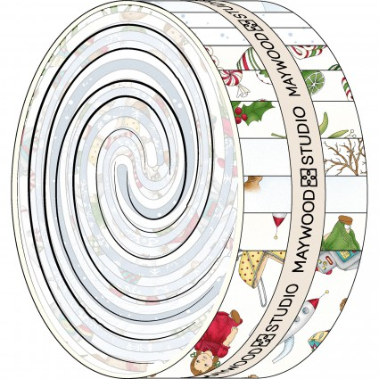 Christmas Joy Flannel Jelly Roll-Designed by Kris Lammers for Maywood Studio. 100% Cotton Flannel.Christmas Joy Jelly Roll strips