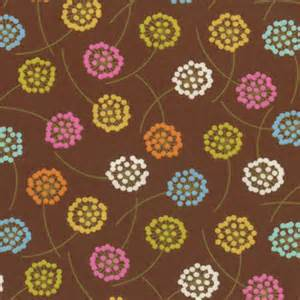 Wrens Friends Brown Flowers-Wrens friends brown with flowers designed by gina martin for Moda fabrics.``
