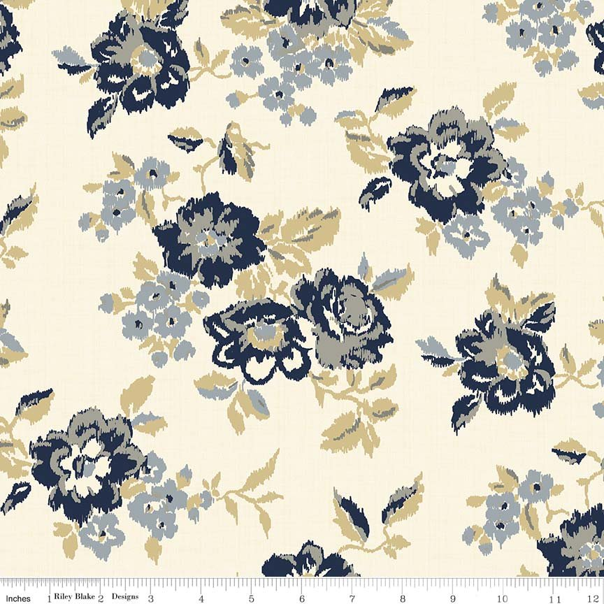 "Faded Memories Cream-Penny Rose Fabrics ""Faded Memories"" By Gerri Robinson. 100% cotton."