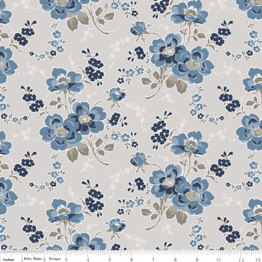Charming Main Taupe-Penny Rose Fabrics, Charming by Gerri Robinson. 100% cotton, pattern C6650-TAUPE, Charming Main Taupe.