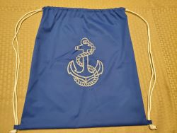 Cinch SaK blue with anchor-