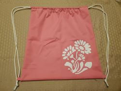 Cinch SaK pink with flower-