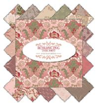 Romancing the Past - 7 piece, 1yd cut bundle-Riley Blake Designs,Penny Rose Romancing the Past by Sue Daley; 1yard cuts / 7 pieces per bundle, 100% cotton, mahogany