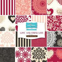 "Lost and Found Love - 5"" stacker-Riley Blake Designs Lost and Found Love by Jen Allyson for My Mind's Eye; 5 charm pack / 15 piece per pack, 100% cotton."