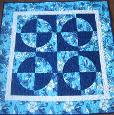 Drunkards Path Kit-drunkards path baby quilt kit by barb gaddy