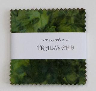Trails End Batik charm pack-Trails End Batiks by Moda. Charm pack, 40 five inch squares.